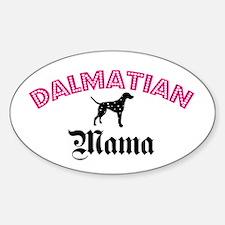 Dalmatian Mama Oval Decal