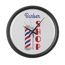 Barber Shop Large Wall Clock