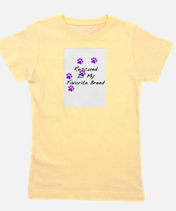 Rescued Is My Favorite Breed T-Shirt Girl's Tee