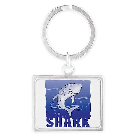 Kid Friendly Shark Landscape Keychain