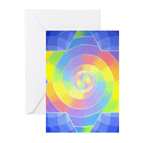 RainbowSpiral Greeting Cards