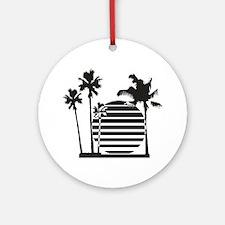 Palm beach - bananaharvest Round Ornament