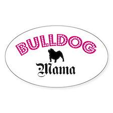 Bulldog Mama Oval Decal
