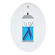 Hairdresser Tools Scissors Comb Ornament (Oval)