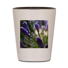 Purple Raindrops Shot Glass