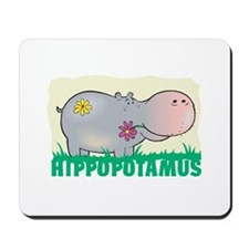 Kid Friendly Hippopotamus Mousepad