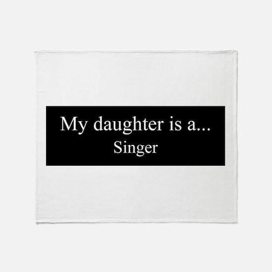 Daughter - Singer Throw Blanket