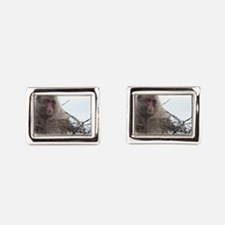 monkey in a tree Rectangular Cufflinks