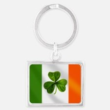 Irish Shamrock Flag Keychains