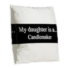 Daughter - Candlemaker Burlap Throw Pillow