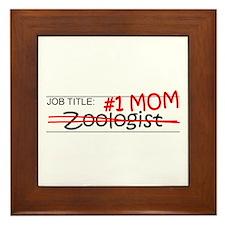 Job Mom Zoologist Framed Tile