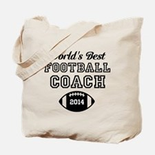 Worlds Best Football Coach Tote Bag