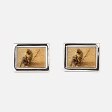 snow monkeys Rectangular Cufflinks
