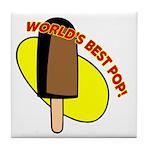 World's Best Pop Tile Coaster