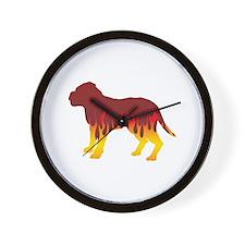 Dogue Flames Wall Clock