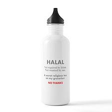 Halal - Secret religious tax. Water Bottle