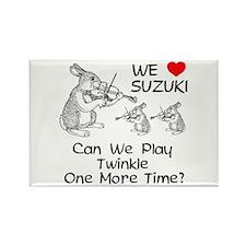 Suzuki Violin Bunnies Rectangle Magnet