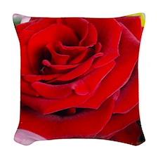 Rose Woven Throw Pillow