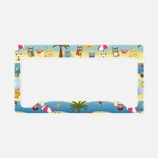 summer owls License Plate Holder