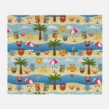 summer owls Throw Blanket