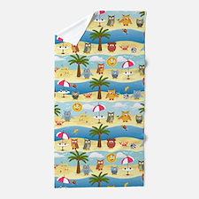 summer owls Beach Towel