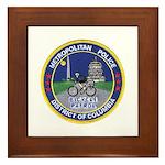 DC Police Bicycle Patrol Framed Tile
