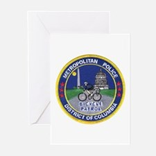 DC Police Bicycle Patrol Greeting Cards (Package o