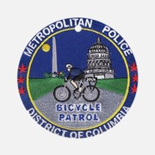 DC Police Bicycle Patrol Ornament (Round)