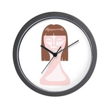 Hair School Mannequin Wall Clock