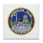 DC Police Bicycle Patrol Tile Coaster