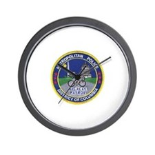 DC Police Bicycle Patrol Wall Clock