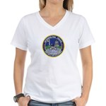 DC Police Bicycle Patrol Women's V-Neck T-Shirt