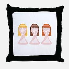 Hair School Mannequins Throw Pillow