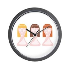 Hair School Mannequins Wall Clock