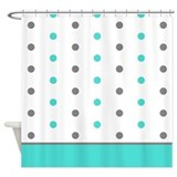 Aqua shower curtains Shower Curtains