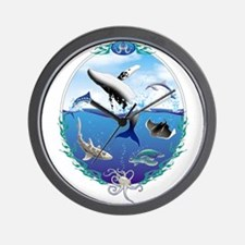Cute Sting ray Wall Clock