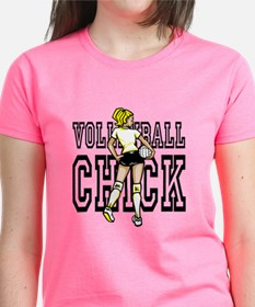 Volleyball Chick T-Shirt For Player And Fan