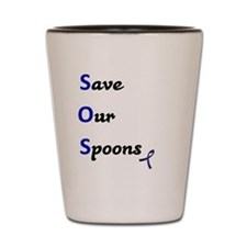 Save our Spoons, Blue Ribbon Shot Glass