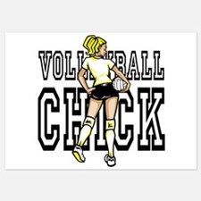 Volleyball chick Invitations