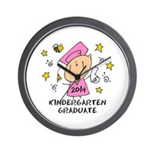Cute Girl Kind Grad 14 Wall Clock