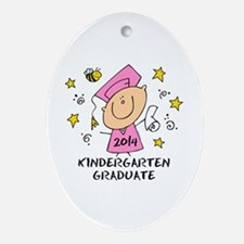 Cute Girl Kind Grad 14 Ornament (Oval)