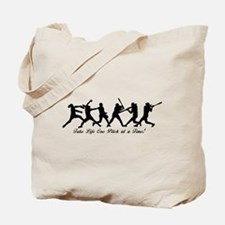 Fastpitch Softball One Pitch at a Time! Tote Bag