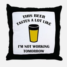 This Beer Tastes A Lot Like Throw Pillow