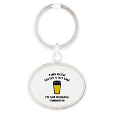 This Beer Tastes A Lot Like Oval Keychain
