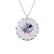 Spoon!, pale blue and lilac Necklace