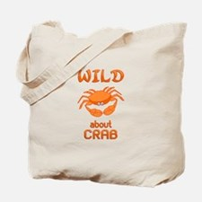 Wild About Crab Tote Bag