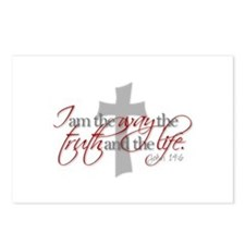 Cute Jesus the way and the truth and the life Postcards (Package of 8)