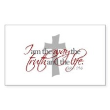 Cute Jesus the way and the truth and the life Decal