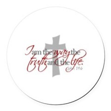 Cute Jesus the way and the truth and the life Round Car Magnet