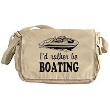 Id rather be boating Messenger Bag